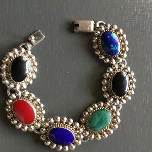 Jewelry - Sterling Silver Multi-Gemstone Bracelet